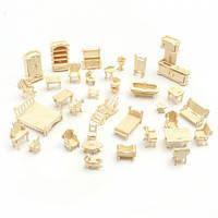 3D Деревянный конструктор. Набор кукольной мебели (184 детали)
