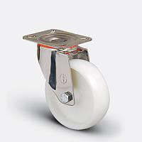 Нержавеющее поворотное колесо диаметром 80 мм из полиамида нагрузка 120 кг