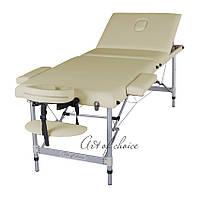 Массажный стол JOY (трехсекционный алюминиевый)