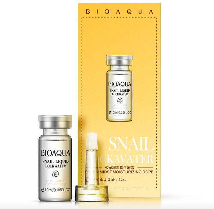 Сыворотка-концентрат 100% фильтрат Улитки Bioaqua Snail Liquid Lock Water, 10 мл