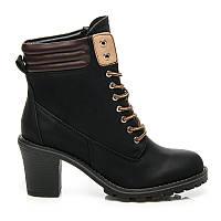 Ботинки на шнуровке с каблуком ZY9088B