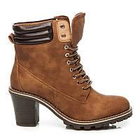 Ботинки на шнуровке с каблуком ZY9088C