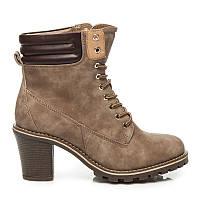 Ботинки на шнуровке с каблуком ZY9088KH