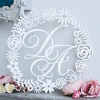 Монограмма на свадьбу, вензель, герб свадебный