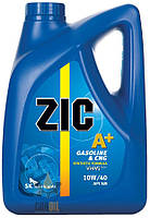 Масло моторное полусинтетическое ZIC A+ 10W-40 6л.(бензин/дизель) - производства Корея