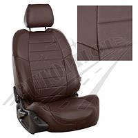 Чехлы на сиденья Suzuki SX-4 I Hb (задн.сид 40/60) с 06г. (Экокожа Шоколад   Шоколад)