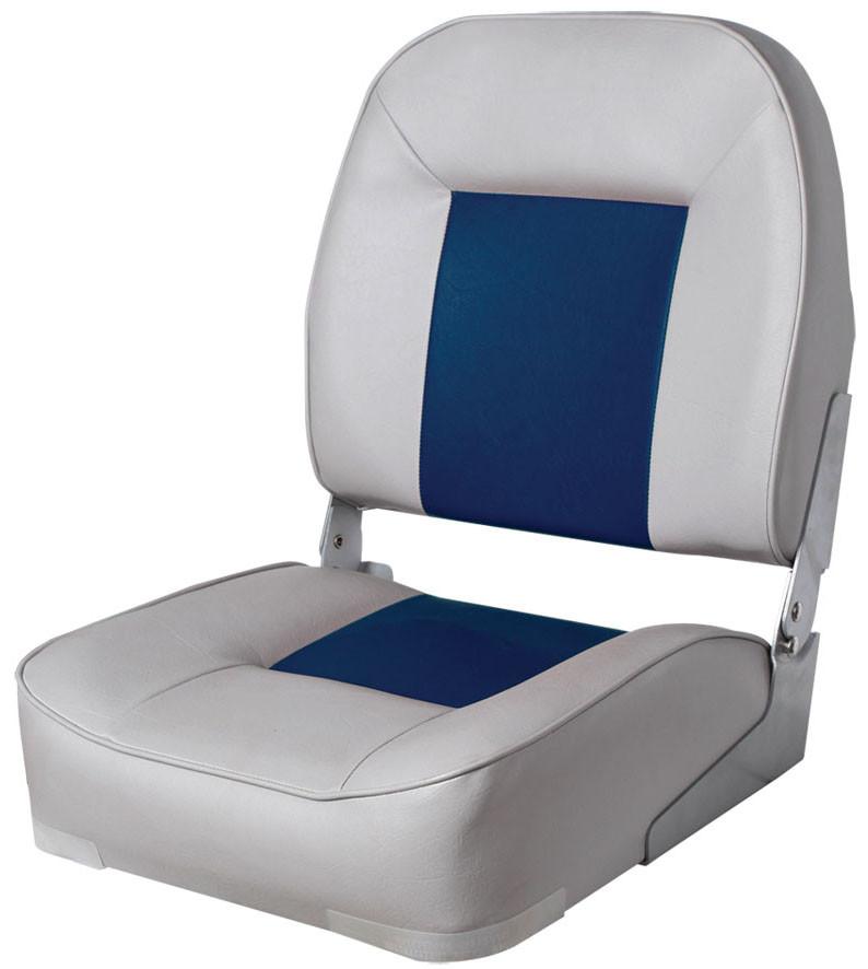 Сиденье NewStar складное, низкая спинка, глубокое серо/синее
