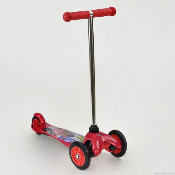 Самокат скутер 3х колесный Тачки колёса PVC TK58415