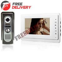 Видео домофон с 7'' цветным LCD, камерой, интерком