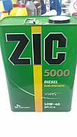 Масло моторное полусинтетическое ZIC 5000 10w-40 дизель 4л. - производства Кореи, фото 1
