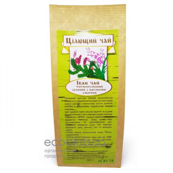 Чай целебный Иван-чай ферментированный зеленый с побегами ели 90 г