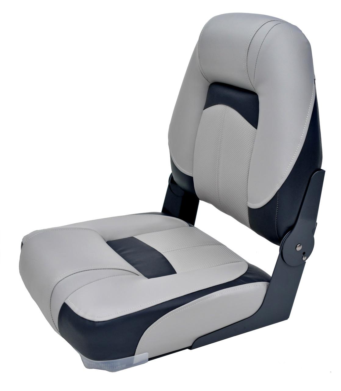 Сиденье NewStar Premium мягкое с высокой спинкой складное Серый/Уголь/Уголь