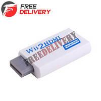 Wii - HDMI адаптер, конвертер видео + аудио, 1080P