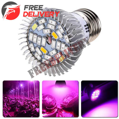 Фитолампа фито лампа для растений, полный спектр E27, 28 LED 8Вт - freedelivery в Ровно