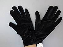 Перчатки бархатные женские Star