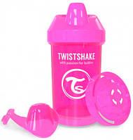 Чашка-непроливайка 300 мл., от 8 мес., розовая, Twistshake