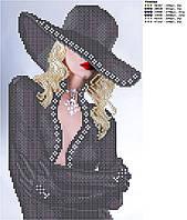 Схема для вишивки бісером Блондинка (в чорному)