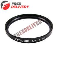 Ультрафиолетовый UV фильтр 52мм CITIWIDE