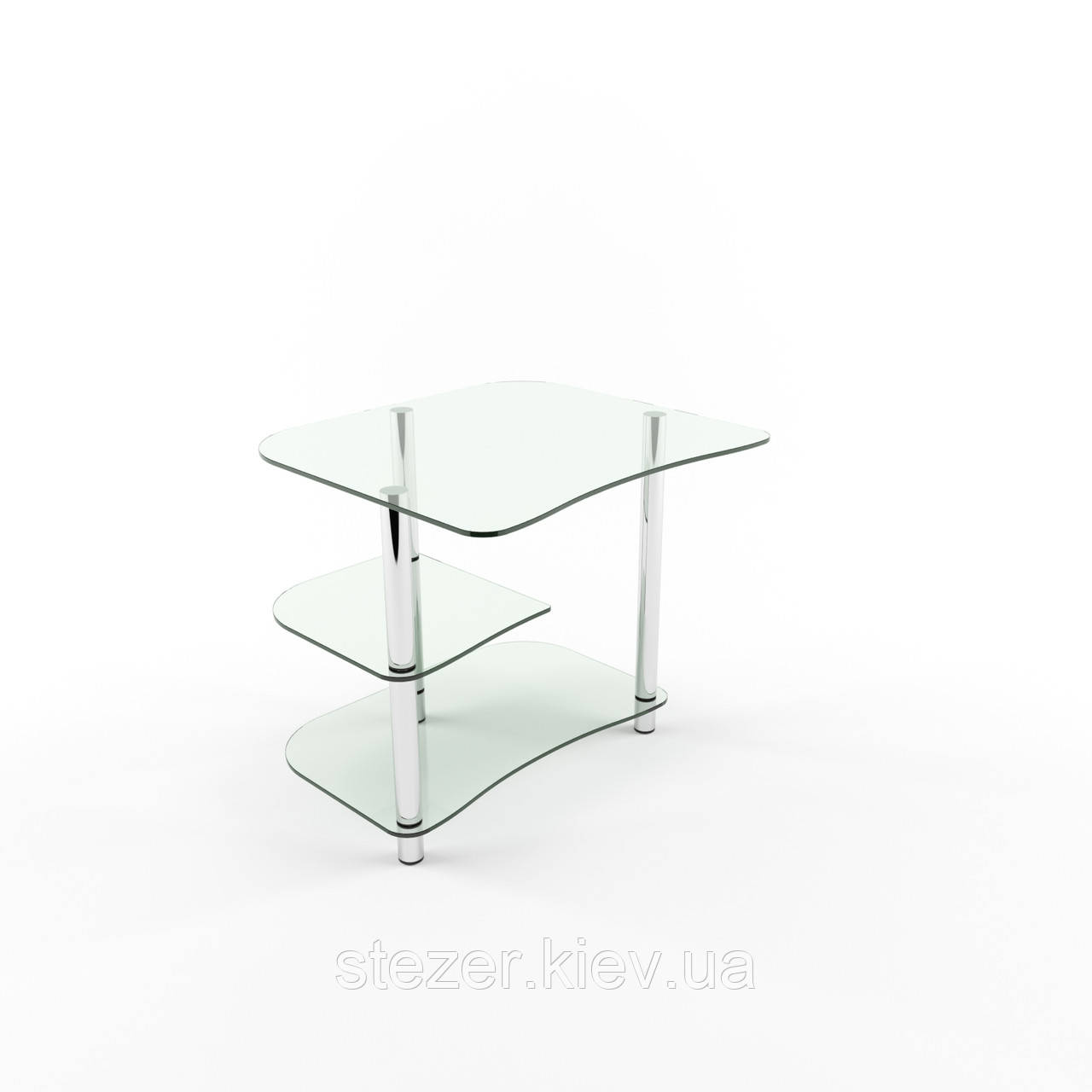 Столик для ноутбука из стекла