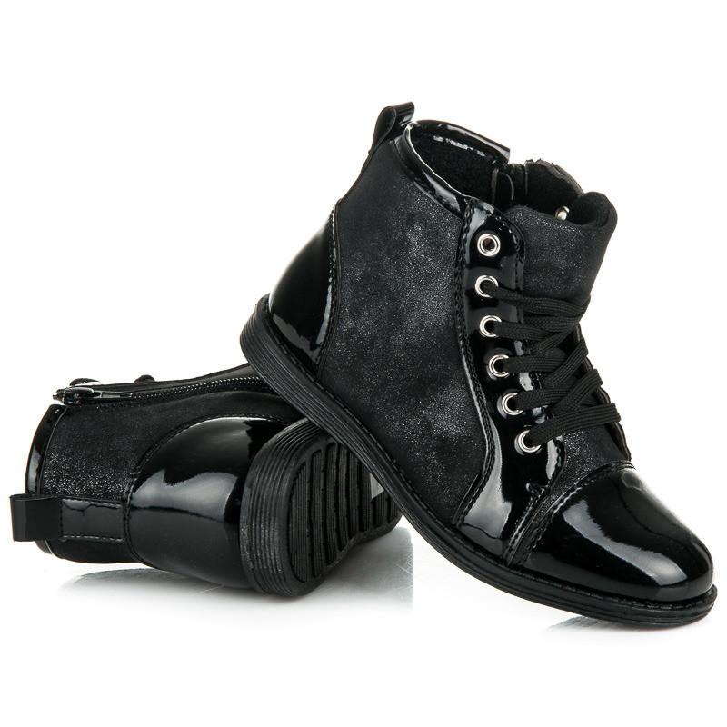 Ботинки детские лаковый носок 5F-DY163601B