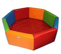 "Детский сухой бассейн для шариков ""Восьмигранник"" MMSB17 1,5 м (размер 150х150х40 см) ТМ Kidigo"