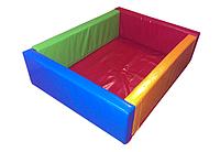 "Детский сухой бассейн для шариков ""Квадрат"" MMSB6 1,5 м (размер 140x40x40 см) ТМ Kidigo"