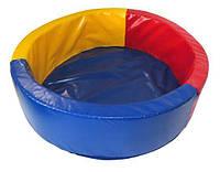 "Детский сухой бассейн для шариков ""Круг"" MMSB1 1,5 м (размер 150x150x40 см) ТМ Kidigo"