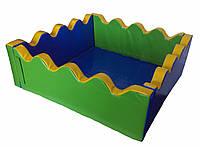 """Детский сухой бассейн для шариков """"Море"""" MMSB12 1,5 м (размер 150х150х60 см) ТМ Kidigo"""