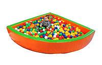 "Детский сухой бассейн для шариков ""Угол"" MMSB10 1,8 м (размер 180х180х40 см) ТМ Kidigo"