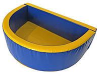 """Детский сухой бассейн для шариков """"Полукруг"""" MMSB4 2,5 м (размер 200x120x50 см) ТМ Kidigo"""