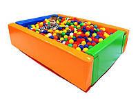 """Детский сухой бассейн для шариков """"Прямоугольник"""" MMSB7 1,5 м (размер 150х120х40 см) ТМ Kidigo"""