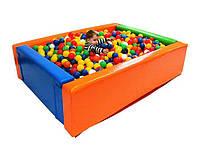 "Детский сухой бассейн для шариков ""Прямоугольник"" MMSB8 2 x 1,5 м (размер 200х150х50 см) ТМ Kidigo"