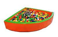 "Детский сухой бассейн для шариков ""Угол"" MMSB9 1,5 м (размер 150x150x40 см) ТМ Kidigo"