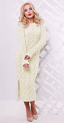 Платье длинное с разрезом белое