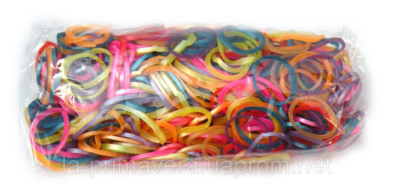 Разноцветные резинки Metallic для плетения Rainbow loom