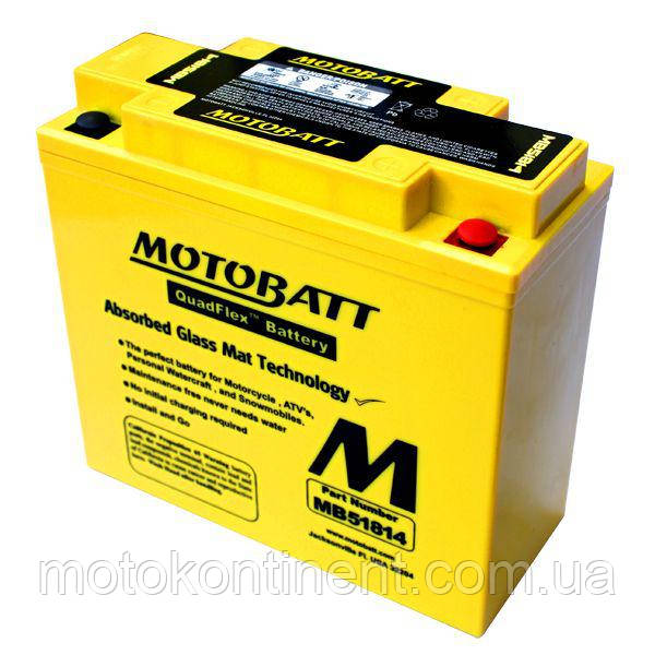 Мотоаккумулятор гелевый MOTOBATT (мотобат) 22Ah 220A  размер 183 x 80 x 170 MB51814 для BMW K1200
