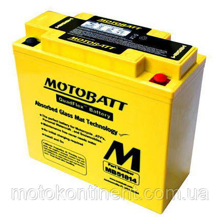 Мотоаккумулятор гелевый MOTOBATT (мотобат) 22Ah 220A  размер 183 x 80 x 170 MB51814 для BMW K1200, фото 2