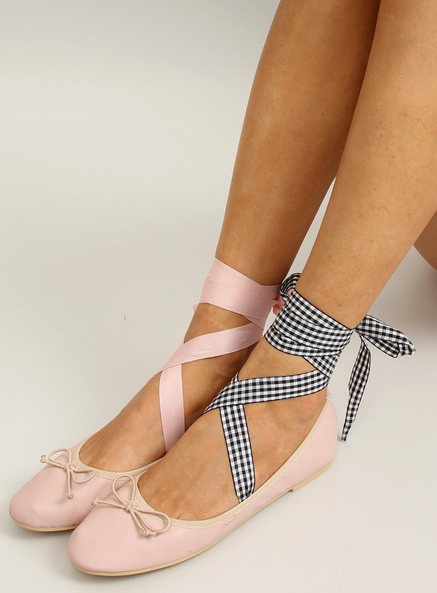 9fa14d2a30b6 Балетки с двойной лентой 1193 PINK: продажа, цена в Киеве. балетки женские  от