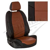 Чехлы на сиденья Honda CR-V III с 07-12г. (Экокожа Черный   Коричневый)