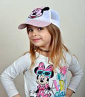 Бейсболка микки. Сетка. 3-7 лет. р.52 и 54 белый, розовый, малина, фото 1