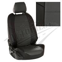 Чехлы на сиденья Audi А6 (C7) Sd с 11г. (Экокожа Черный   Темно-серый)