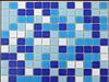 Стеклянная мозаика DC - 01 бело-голубой МИКС производства Китай МИКС ДЛЯ БАССЕЙНА