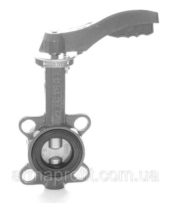 Затвор поворотный Баттерфляй GENEBRE тип 2109 Ду250 Ру16 диск нержавеющая сталь