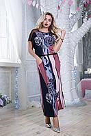 Длинное ботальное летнее платье Ирма-3 48-56, фото 1