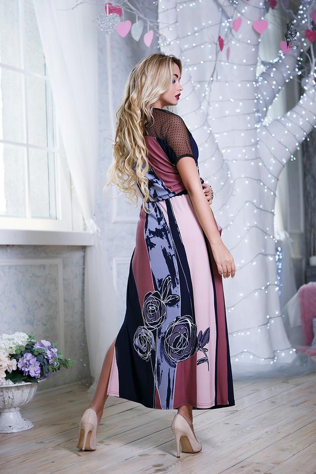 Фото-2 Длинного ботального летнего платья Ирма-3