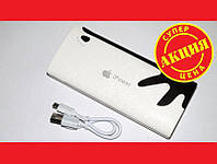 Повербанк Powerbank Apple Iphone LED 30000mAh 3 USB яблоко