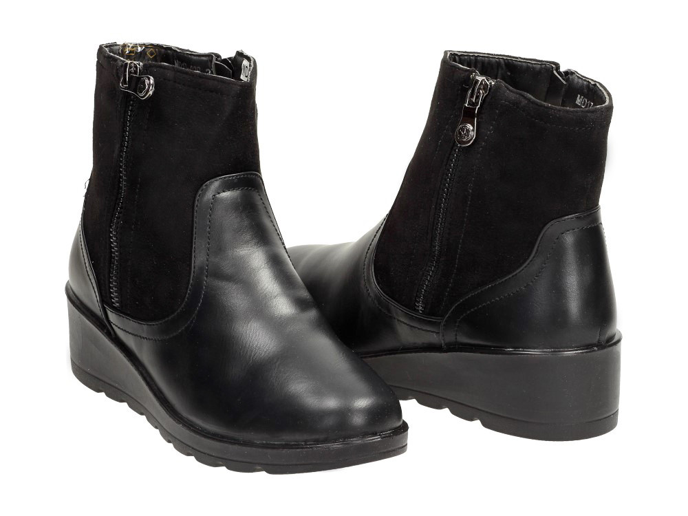 c1ae79c1 Теплые женские ботинки на платформе MDA-02B Czarne: продажа, цена в ...