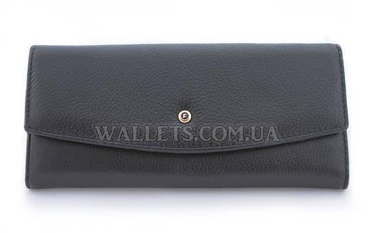 Женский кожаный кошелек SALFEITE, черный, облегченный