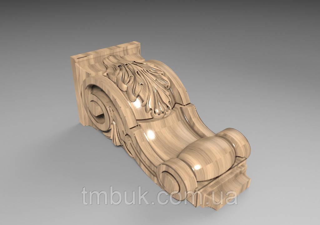 Кронштейн деревянный  - 60х130 мм