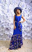 """Стильное молодежное платье в пол """" Ромашки """" Dress Code"""